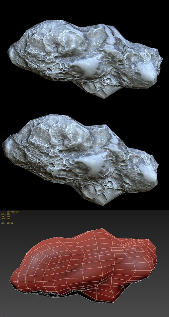 Asteroid PBR Low-poly - 3DOcean Item for Sale