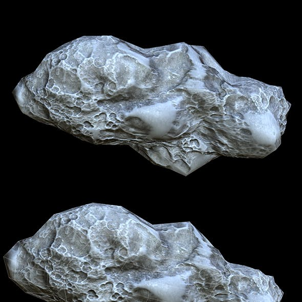 Asteroid PBR Low-poly