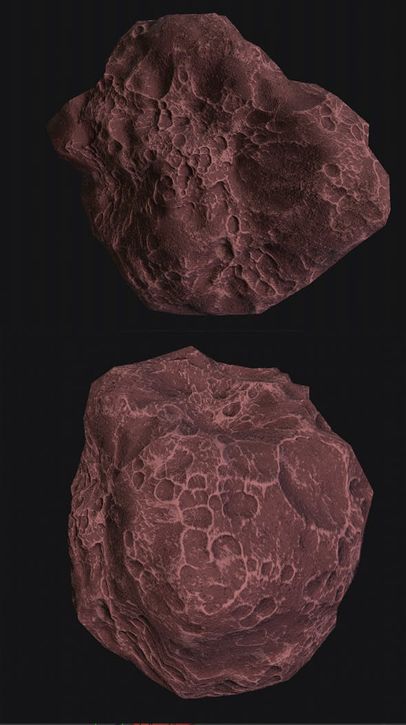 asteroid v3 Low poly - 3DOcean Item for Sale
