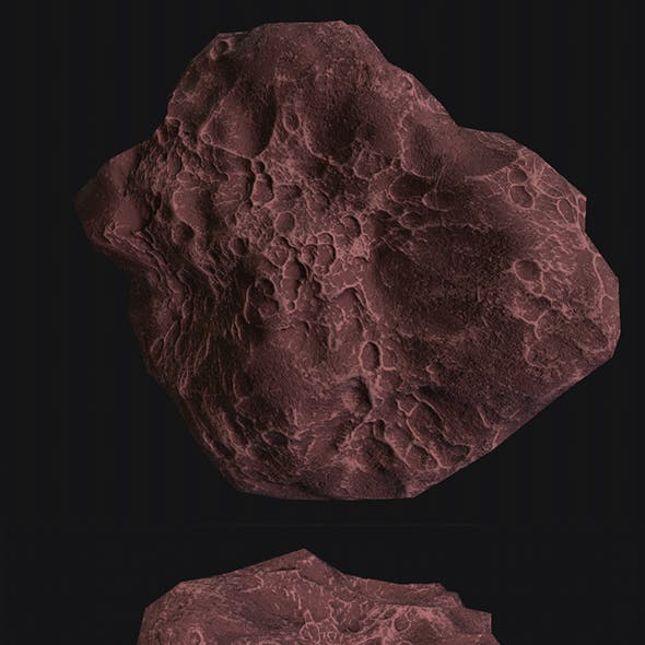 asteroid v3 Low poly