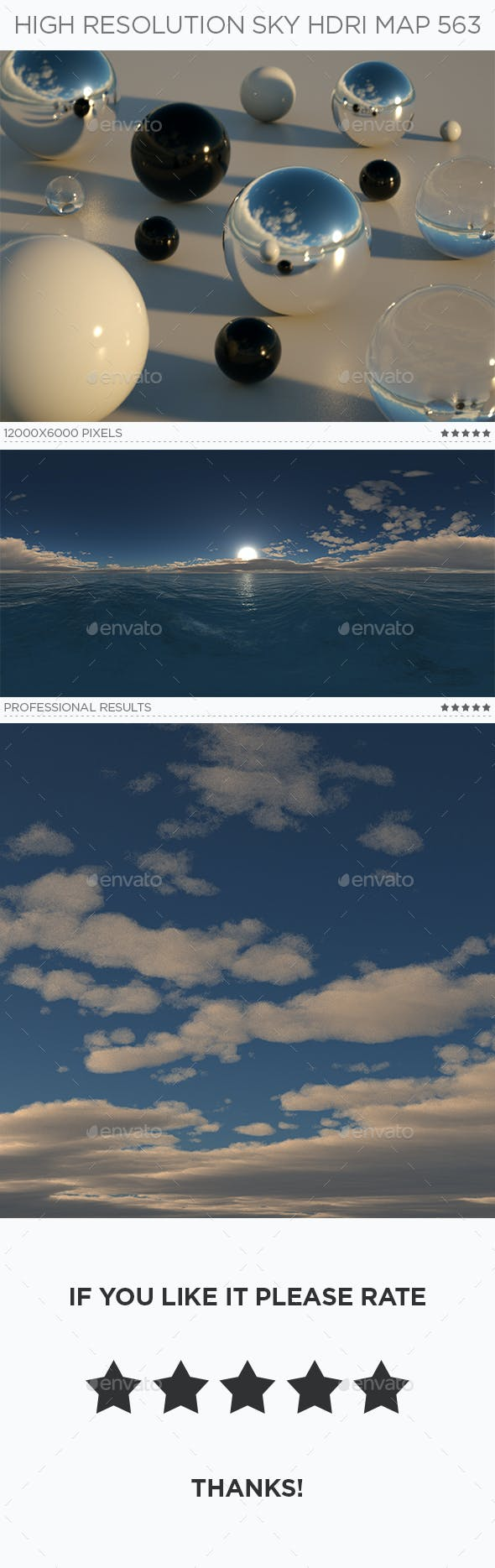 High Resolution Sky HDRi Map 563 - 3DOcean Item for Sale