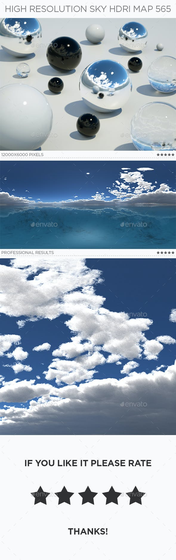 High Resolution Sky HDRi Map 565 - 3DOcean Item for Sale