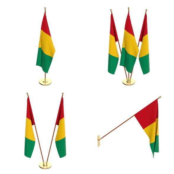 Guinea Flag Pack - 3DOcean Item for Sale