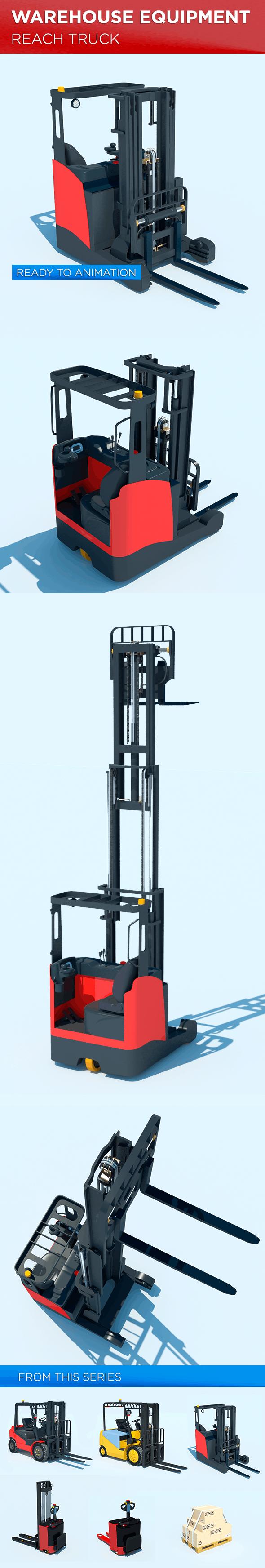 Warehouse Equipment: Reach Truck - 3DOcean Item for Sale