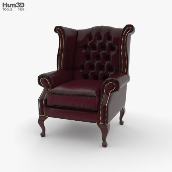 Wingback Chair - 3DOcean Item for Sale
