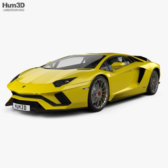 Lamborghini Aventador S 2017 - 3DOcean Item for Sale