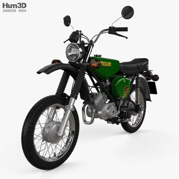 Simson S51 1980 - 3DOcean Item for Sale