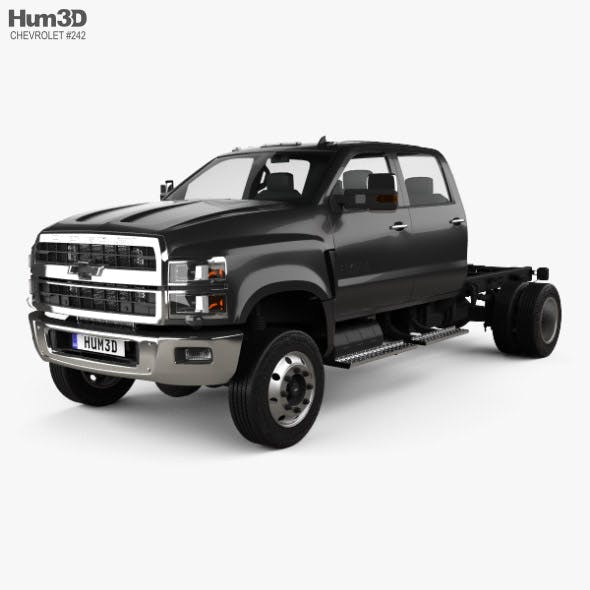 Chevrolet Silverado 4500HD Crew Cab Chassis 2018 - 3DOcean Item for Sale