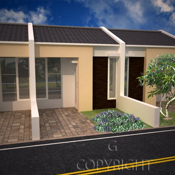 minimalist house in 3ds max 2010 - 3DOcean Item for Sale