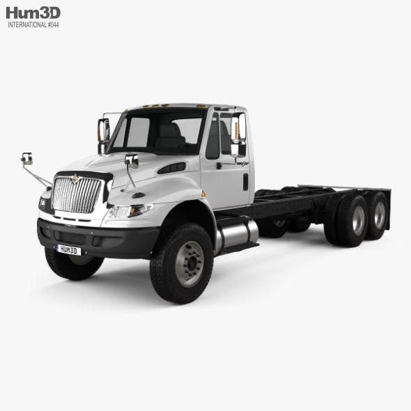 International Durastar 4400 SBA Chassis Truck 2011 - 3DOcean Item for Sale