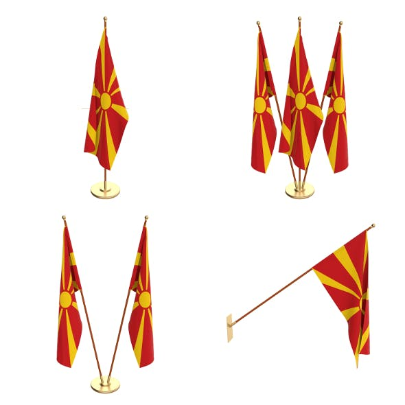 North Macedonia Flag Pack - 3DOcean Item for Sale
