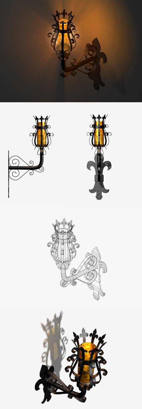 Medieval Lamp - 3DOcean Item for Sale