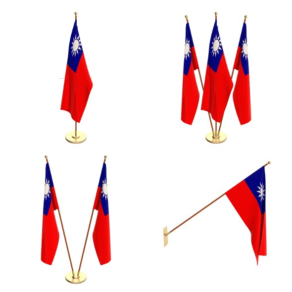 Taiwan Flag Pack - 3DOcean Item for Sale