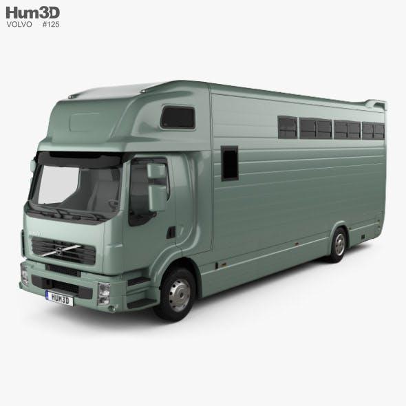 Volvo FE Roelofsen-Raalte RR2 Horse Truck 2017 - 3DOcean Item for Sale