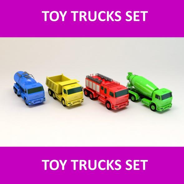 Toy Trucks Set - 3DOcean Item for Sale