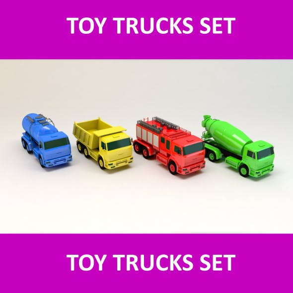 Toy Trucks Set