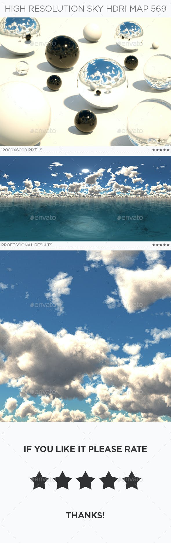 High Resolution Sky HDRi Map 569 - 3DOcean Item for Sale