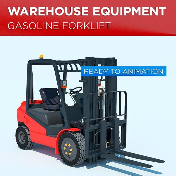 Warehouse Equipment: Gasoline Forklift