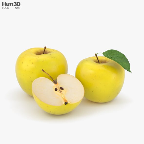 Yellow Apple - 3DOcean Item for Sale