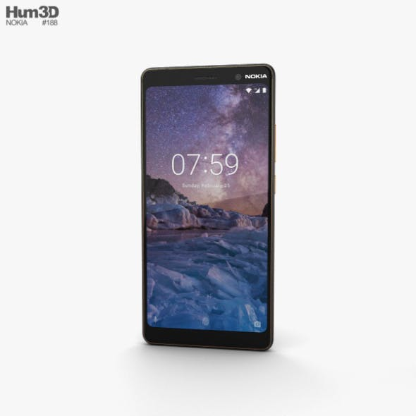 Nokia 7 Plus Black - 3DOcean Item for Sale