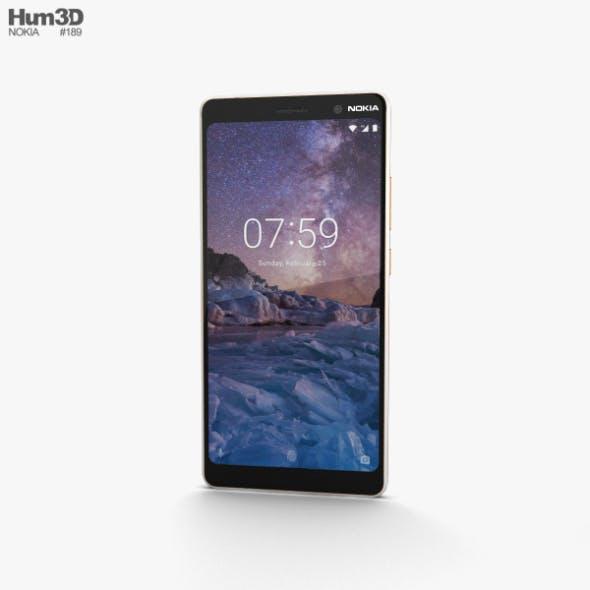 Nokia 7 Plus White - 3DOcean Item for Sale