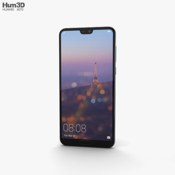 Huawei P20 Pro Midnight Blue - 3DOcean Item for Sale