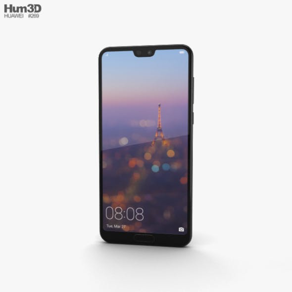Huawei P20 Pro Black - 3DOcean Item for Sale