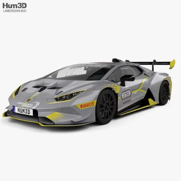 Lamborghini Huracan Super Trofeo Evo Race 2018 - 3DOcean Item for Sale