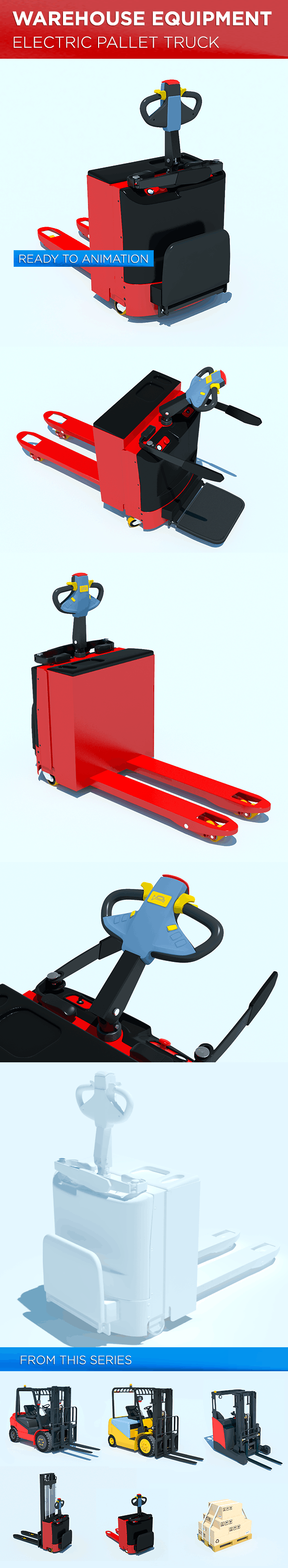 Warehouse Equipment: Electric Pallet Truck - 3DOcean Item for Sale