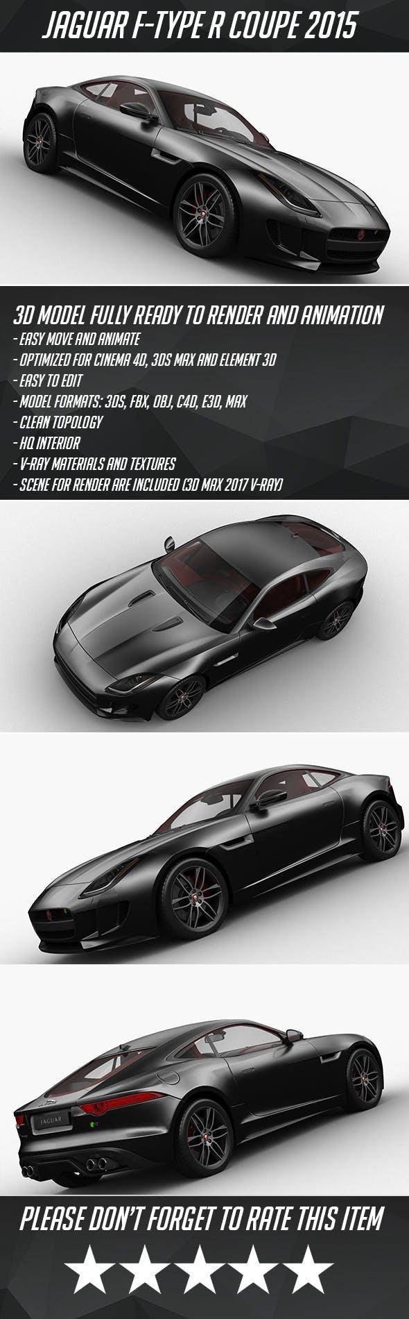 Jaguar F-Type R Coupe 2015 - 3DOcean Item for Sale