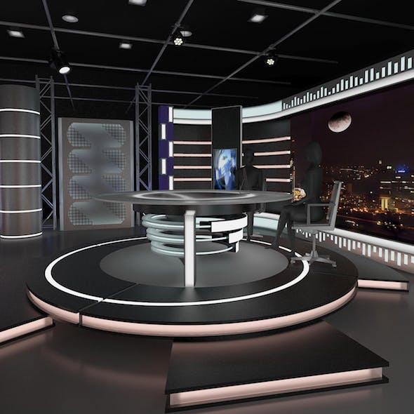 Virtual TV Studio News Set 11