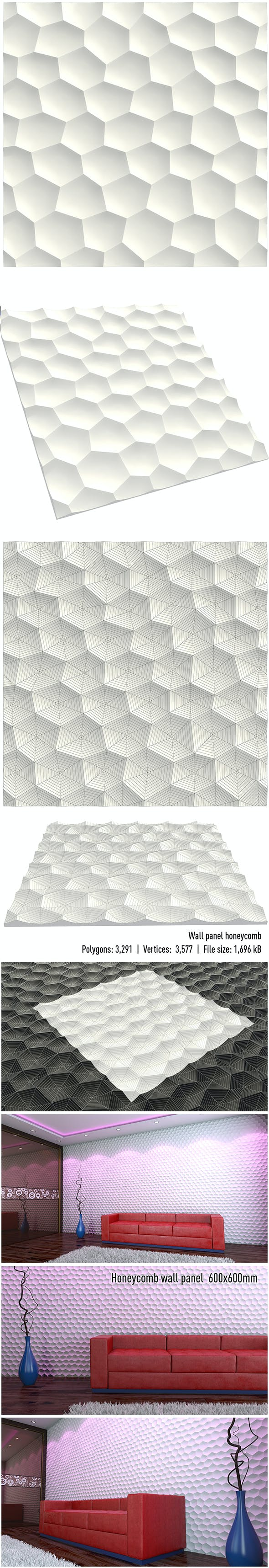 wall panel honeycomb - 3DOcean Item for Sale