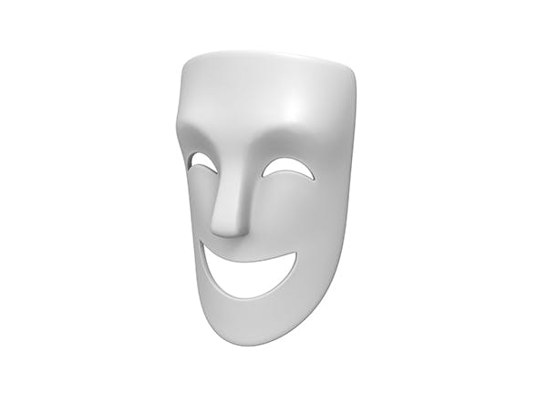 Theater Happy Mask - 3DOcean Item for Sale