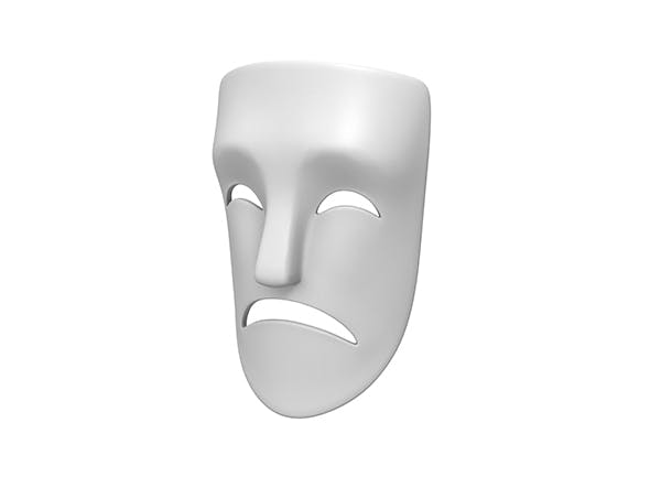Theater Sad Mask - 3DOcean Item for Sale