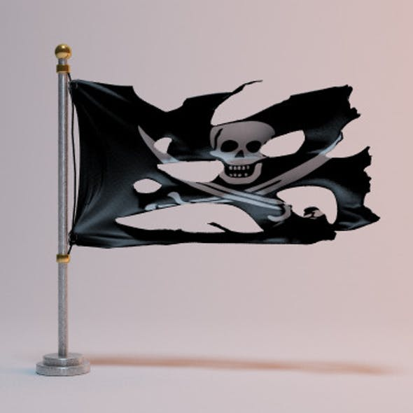 Torn pirate flag