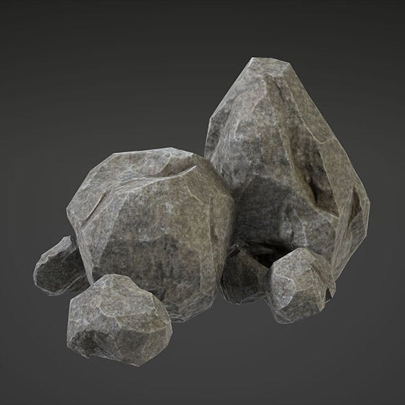 Stone (Middle&Small) - 3DOcean Item for Sale
