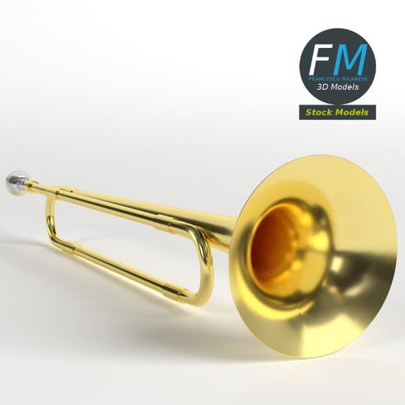 School band toy trumpet - 3DOcean Item for Sale
