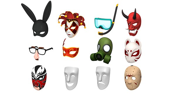 Mask Pack - 3DOcean Item for Sale