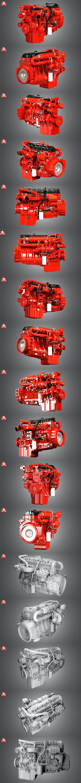 Cummins X12 Truck Engine - 3DOcean Item for Sale