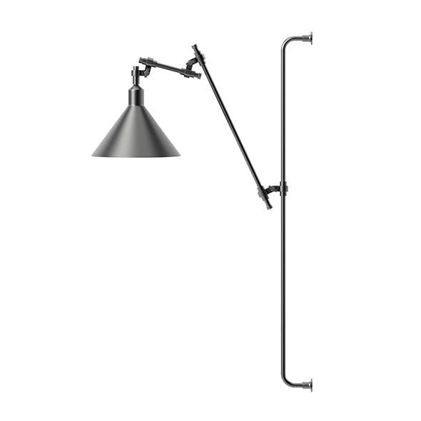 Black Wall Lamp 3D Model - 3DOcean Item for Sale