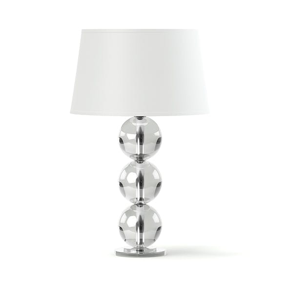 Glass Table Lamp 3D Model - 3DOcean Item for Sale