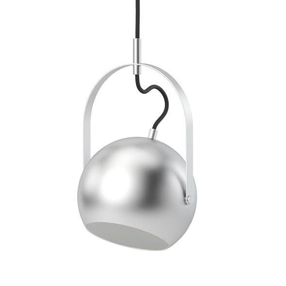 Round Metal Hanging Lamp 3D Model