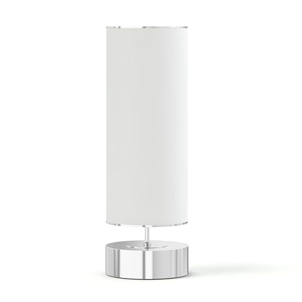 White Cylindrical Floor Lamp 3D Model