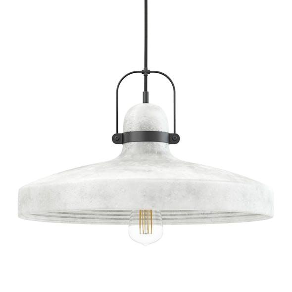 Concrete Hanging Lamp 3D Model