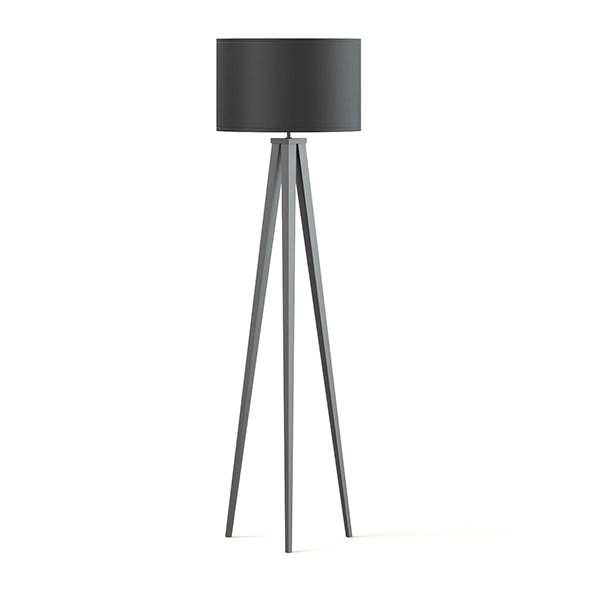 Black Floor Lamp 3D Model
