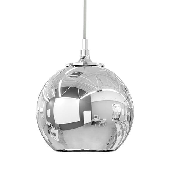 Chrome Hanging Lamp 3D Model - 3DOcean Item for Sale