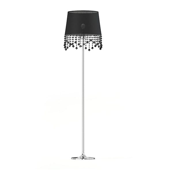 Black and Metal Floor Lamp 3D Model - 3DOcean Item for Sale