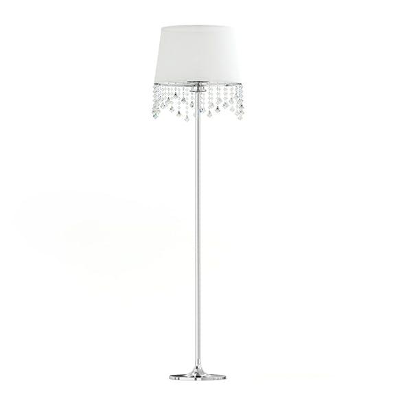 White and Metal Floor Lamp 3D Model