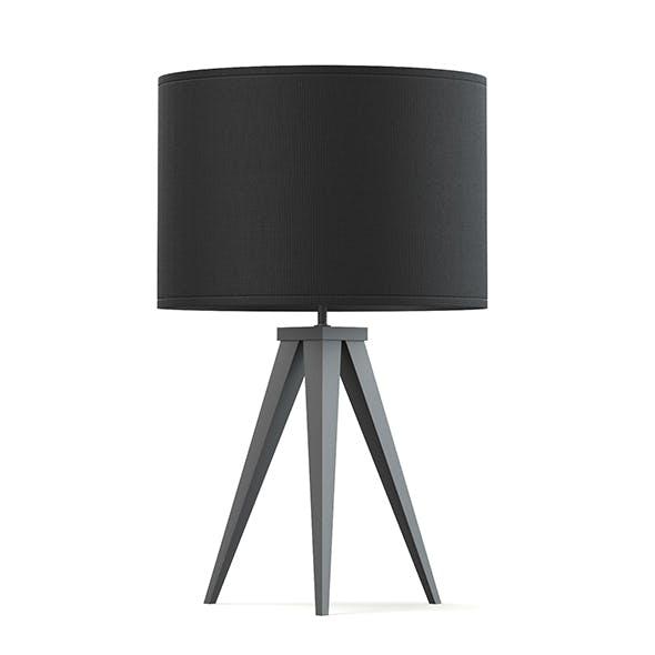 Black Table Lamp 3D Model - 3DOcean Item for Sale