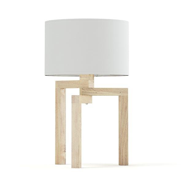 Wooden Table Lamp 3D Model - 3DOcean Item for Sale